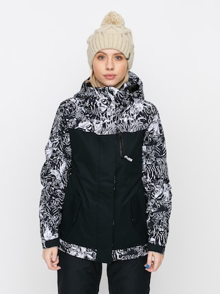 Snowboardovu00e1 bunda Roxy Jetty Block Wmn (true black tiger camo)