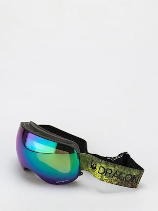 Snowboardové okuliare Dragon X2 (terrafirma/ll green ion/ll amber)