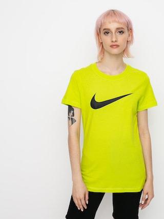 Tričko Nike Swoosh Wmn (cyber/black)