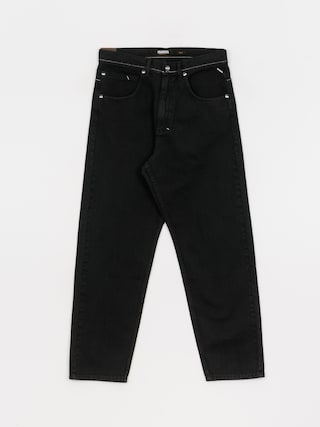 Nohavice MassDnm Slang Jeans Baggy Fit (black stone washed)