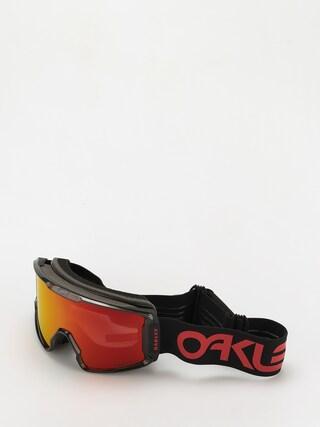 Snowboardovu00e9 okuliare Oakley Line Miner XL (scotty james sig crystal black/prizm snow torch)