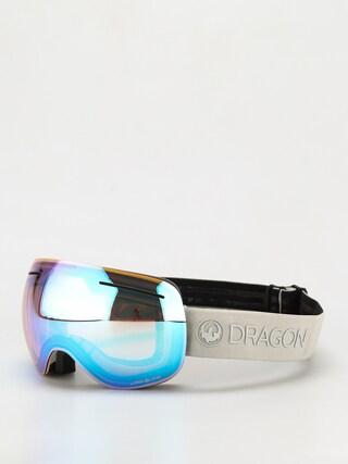 Snowboardové okuliare Dragon X1 (salt/ll flash blue/ll dark smoke)