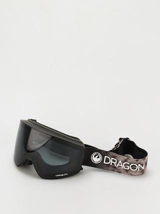 Snowboardovu00e9 okuliare Dragon PXV2 (snow leopard/ll dark smoke/ll light rose)