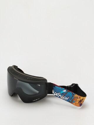 Snowboardovu00e9 okuliare Dragon PXV (teddy/ll dark smoke/ll violet)