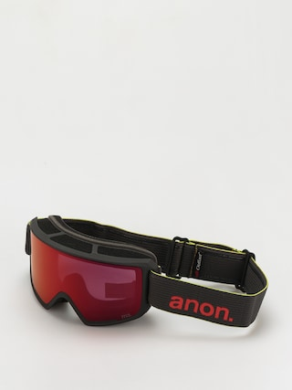 Snowboardovu00e9 okuliare Anon M3 Mfi (black pop/perceive sunny red)