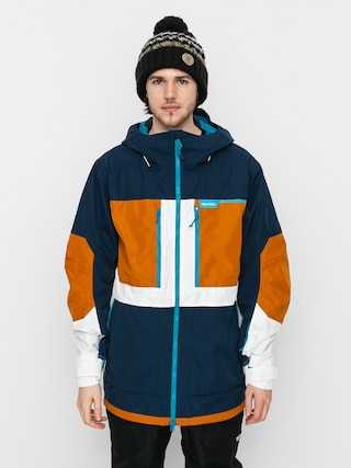 Snowboardovu00e1 bunda Burton Frostner (dress blue/true penny/stout white)
