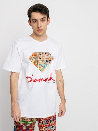 Tričko Diamond Supply Co. Ethiopian Diamond (white)