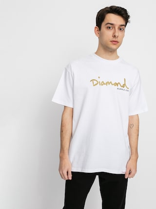 Tričko Diamond Supply Co. Og Script (white)