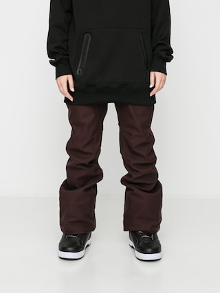 Snowboardovu00e9 nohavice Volcom Grail 3D Stretch Wmn (black red)