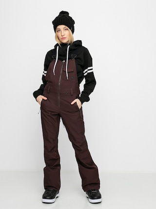Snowboardové nohavice Volcom Swift Bib Overall Wmn (black red)