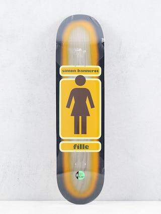 Doska Girl Skateboard Bannerot 93 Til (brown/orange)