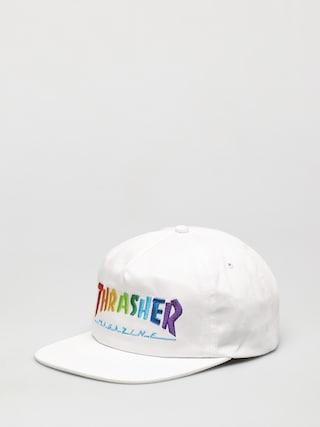 u0160iltovka Thrasher Rainbow Mag Snapback ZD (white)