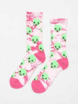Ponožky RipNDip We Out Here (pink lightning wash)