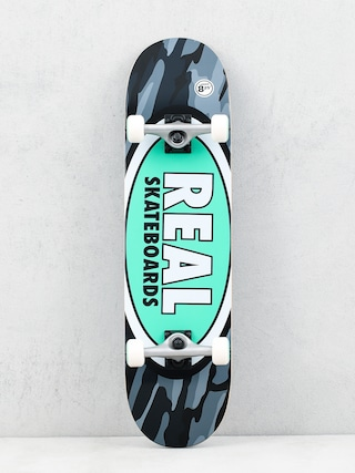 Skateboard Real Oval Camo (green)