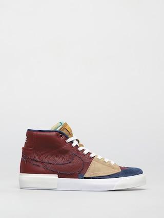 Topu00e1nky Nike SB Zoom Blazer Mid Edge (team red/navy light dew summit white)