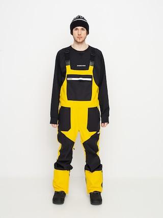 Snowboardovu00e9 nohavice ThirtyTwo Basement Bib (black/gold)