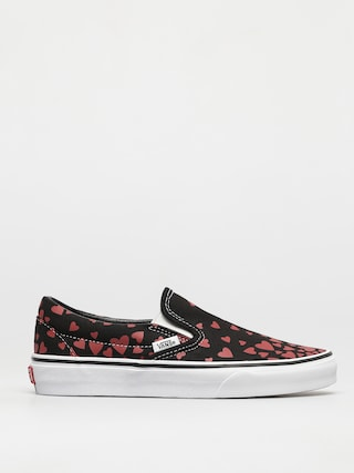 Topánky Vans Classic Slip On (valentines hearts black/racing red)