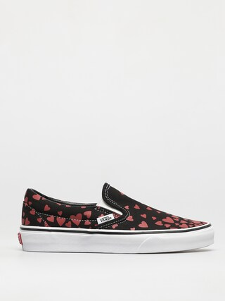 Topu00e1nky Vans Classic Slip On (valentines hearts black/racing red)