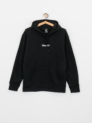 Mikina s kapucu0148ou Nike SB Front Script HD (black/white)
