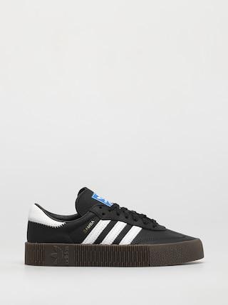 Topu00e1nky adidas Originals Sambarose Wmn (cblack/ftwwht/gum5)