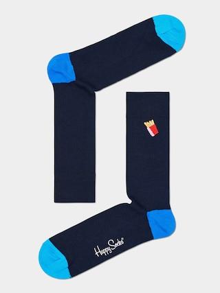 Ponožky Happy Socks Ribbed Embroidery Fries (navy)