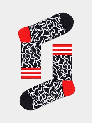 Ponou017eky Happy Socks Wire 3/4 (black/white)