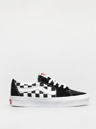 Topu00e1nky Vans Sk8 Low (canvas/suede black/checkerboard)
