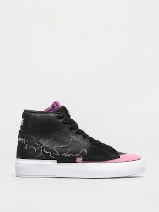 Topu00e1nky Nike SB Zoom Blazer Mid Edge (black/pink rise white purple nebula)
