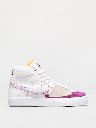 Topu00e1nky Nike SB Zoom Blazer Mid Edge (white/viotech white)