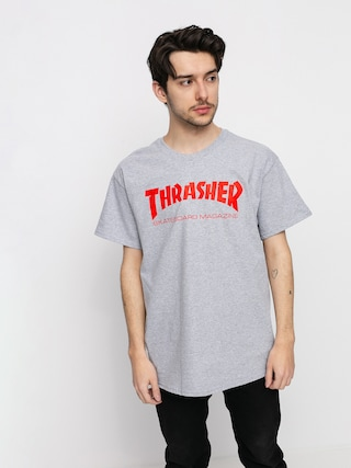 Tričko Thrasher Skate Mag (grey/red)