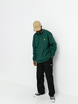 Triko Carhartt WIP Chase (treehouse/gold)