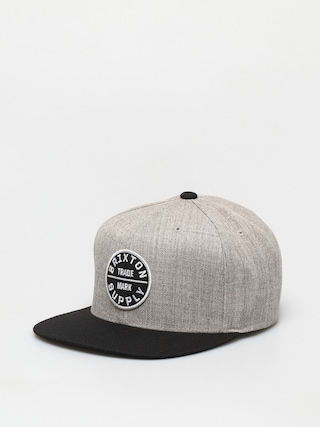 u0160iltovka Brixton Oath III Snapback (light heather grey/black)