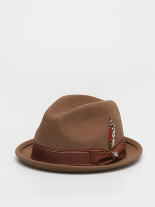 Klobúk Brixton Gain Fedora (washed copper)