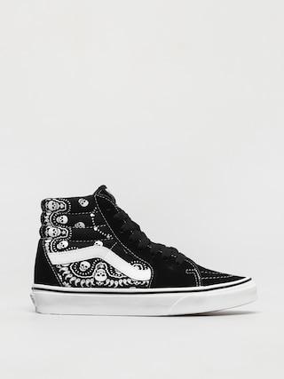 Topu00e1nky Vans Sk8 Hi (bandana black/true white)