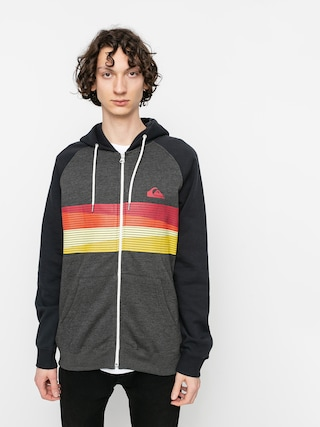 Mikina s kapucu0148ou Quiksilver Everyday Screen ZHD (dark grey heather)