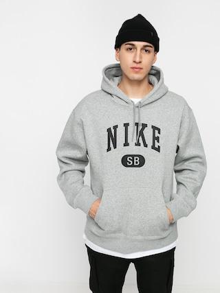 Mikina s kapucu0148ou Nike SB Collegiate HD (dk grey heather/black)