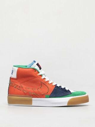 Topu00e1nky Nike SB Zoom Blazer Mid Edge (safety orange/lucky green)