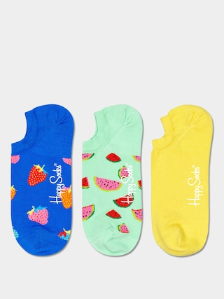 Ponou017eky Happy Socks Fruit No Show 3pk (royal/mint/yellow)
