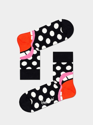 Ponou017eky Happy Socks Laugh Half Crew (black/red)