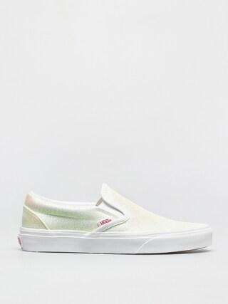 Topánky Vans Classic Slip On (uv glitter pink/true white)
