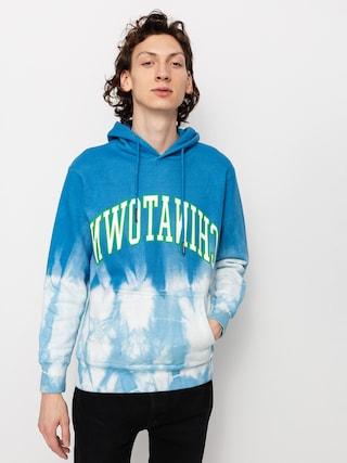 Mikina s kapucu0148ou Chinatown Market Reverse Arc Tie Dye HD (blue tie dye)