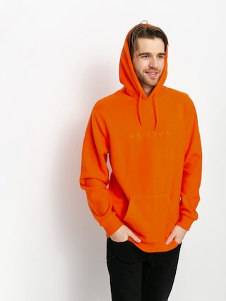 Mikina s kapucu0148ou Brixton Alpha Line HD (carrot)