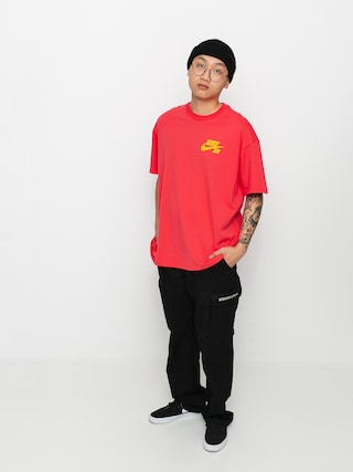 Triu010dko Nike SB Left Chest Script (lt fusion red/university gold)