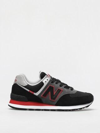 Topu00e1nky New Balance 574 (black/red)