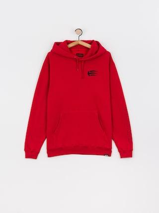 Mikina s kapucu0148ou Etnies Joslin HD (red/black)