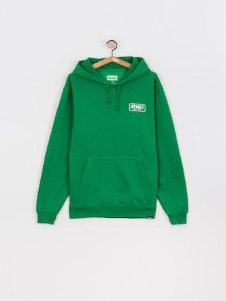 Mikina s kapucu0148ou Etnies Quality Control HD (green/white)