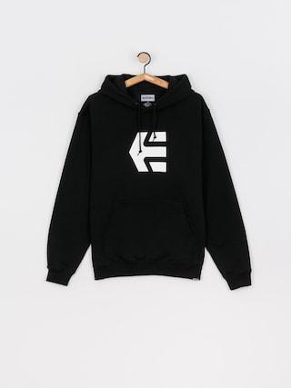 Mikina s kapucu0148ou Etnies Classic Icon HD (black/white)