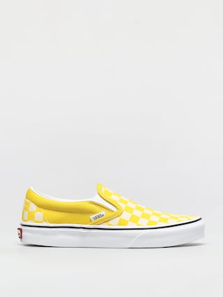 Topánky Vans Classic Slip On (checkerboard cyber yellow/true white)