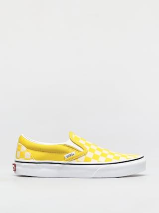 Topu00e1nky Vans Classic Slip On (checkerboard cyber yellow/true white)