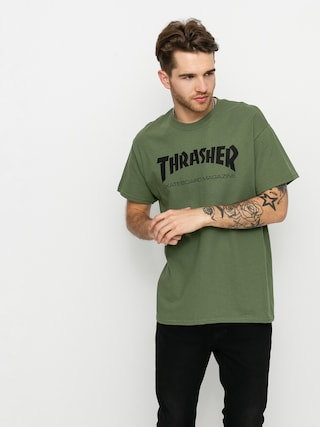 Tričko Thrasher Skate Mag (military green)